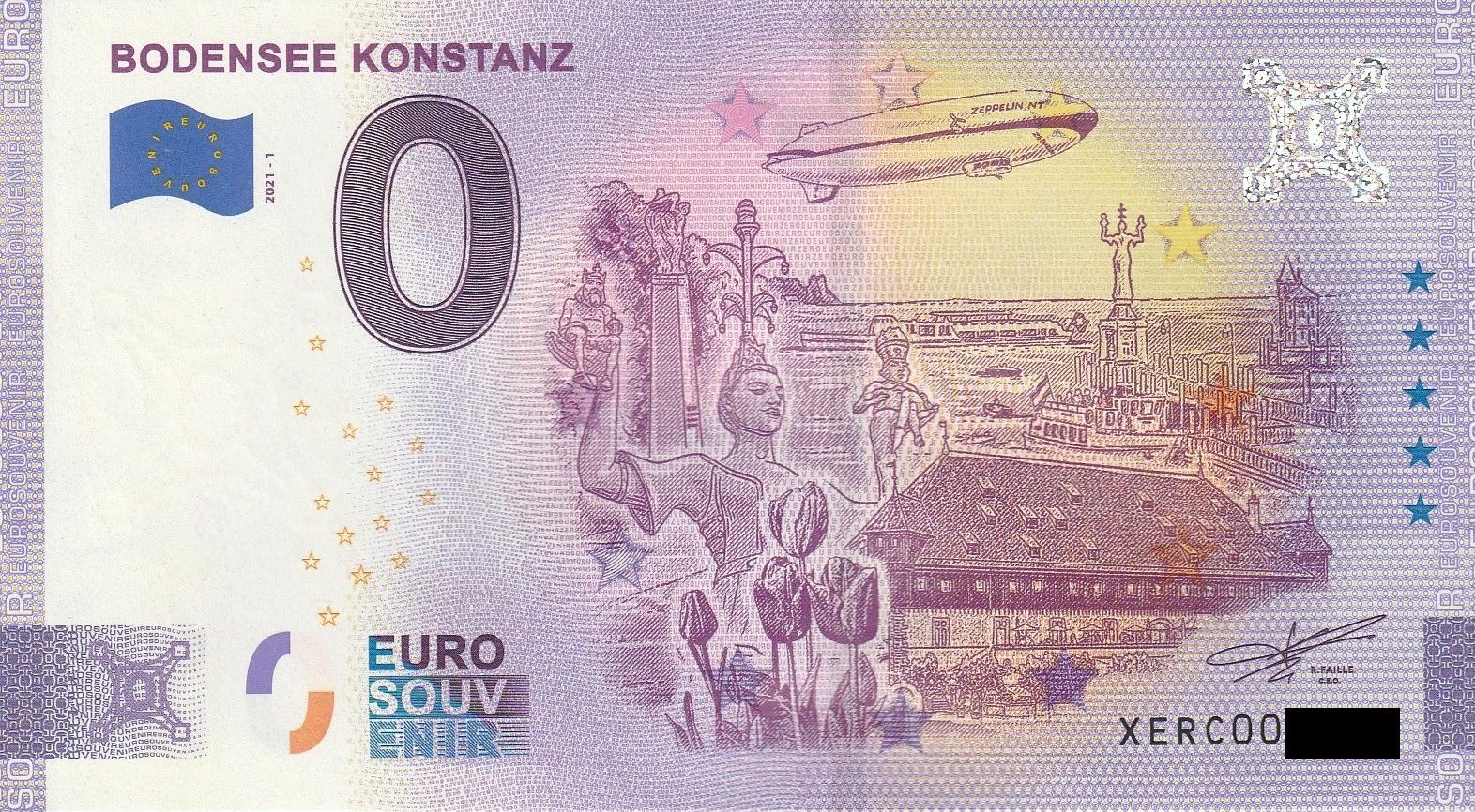 0 Euro Schein - Bodensee Konstanz 2021-1 XERC - OttoGbR ...