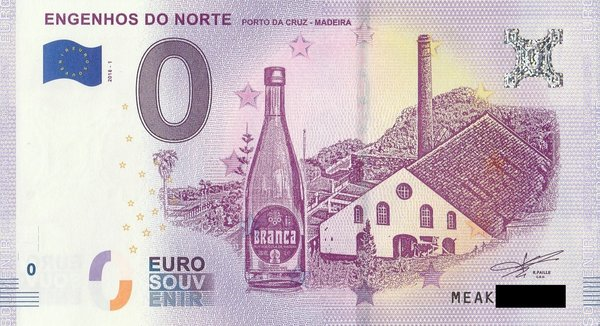 0 Euro Schein - Madeira Engenhos do Norte Portugal 2018 1